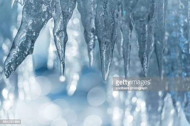 Icicle with booked background