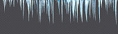icicles hanging downisolated with precise clipping path
