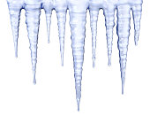 Icicles isolated on white