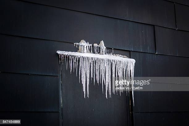 Icicles On House Door