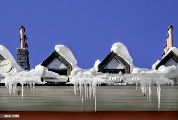 Icicles on the windows