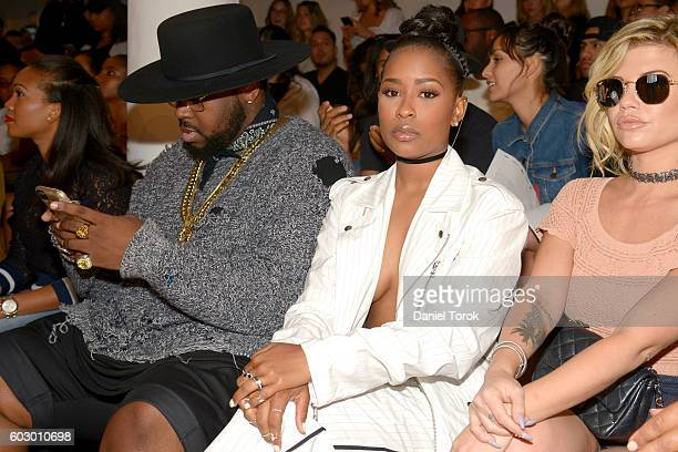 Icon and Dej Loaf attend Pyer Moss Front Row September 2016 MADE Fashion Week at Milk Studios on September 11 2016 in New York City
