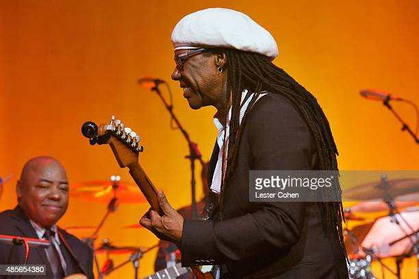 Icon Award honoree Nile Rodgers performs onstage at the 2015 BMI RB/HipHop Awards at Saban Theatre on August 28 2015 in Beverly Hills California