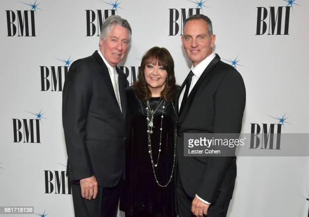 2017 BMI Icon Award recipient Alan Silvestri BMI VP Film TV Visual Media Relations Doreen RingerRoss and BMI President CEO Mike O'Neill at the 2017...
