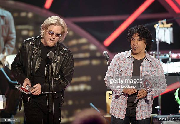 Icon Award recipients Daryl Hall and John Oates of Hall & Oates accept award onstage at the 9th Annual TV Land Awards at the Javits Center on April...