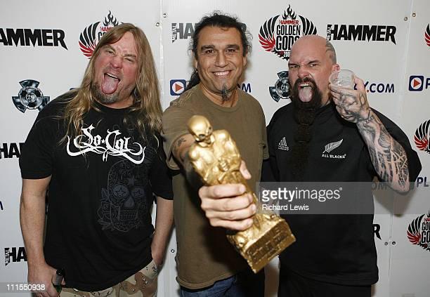 Icon Award Slayer during Metal Hammer Golden Gods 2007 Press Room Boards at Koko in London Great Britain