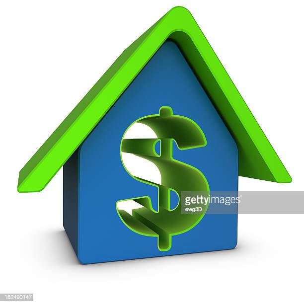 icon house and dollar sign - house icon stock pictures, royalty-free photos & images