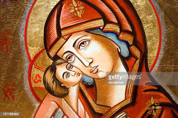 Icon - Madonna with child