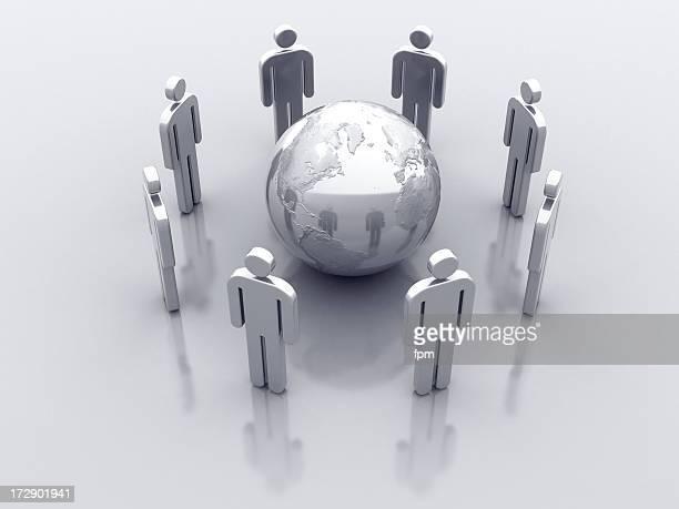 Symbol für Männer: Globale Kommunikation