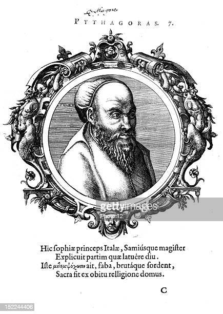 Icones veterum aliquot recentrum medicarum philosophirumque Pythagoras AnversParis Bibliotheque Nationale