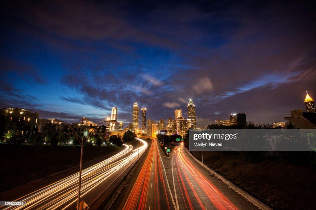iconic Atlanta city view : Stock Photo