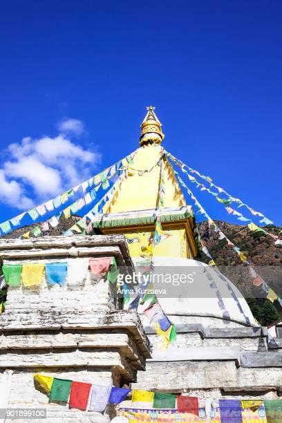 iconic buddhist stupa in nepal - 仏陀の目 ストックフォトと画像