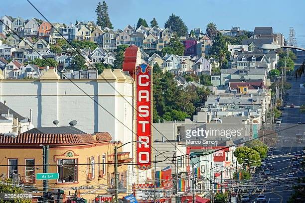 iconic castro, san francisco, california, united states of america, north america - castro district stock pictures, royalty-free photos & images