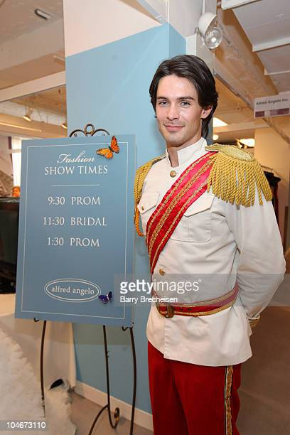 Iconic character Prince Charming at the launch of Disney Fairy Tale Weddings by Alfred Angeloon October 2 2010 in Chicago Illinois