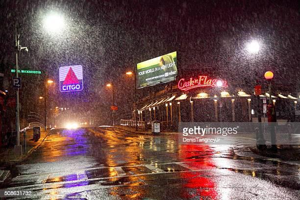 Iconic Citgo Sign along Brookline Ave in Boston
