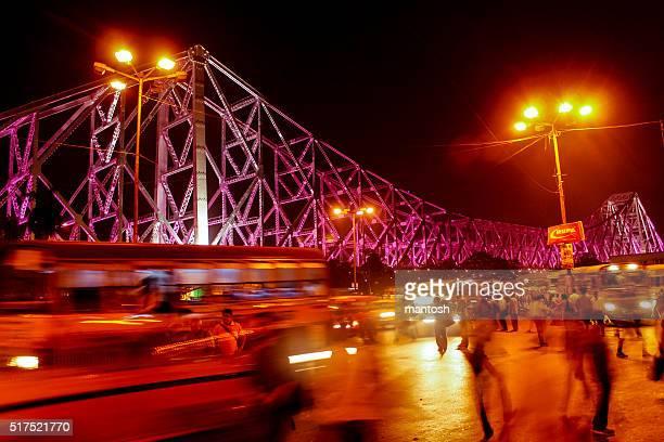 iconic howrah bridge - kolkata stock pictures, royalty-free photos & images