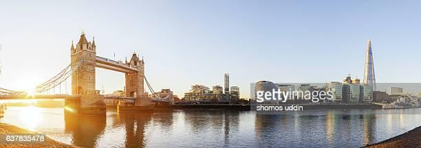 Iconic London landmark at sunrise