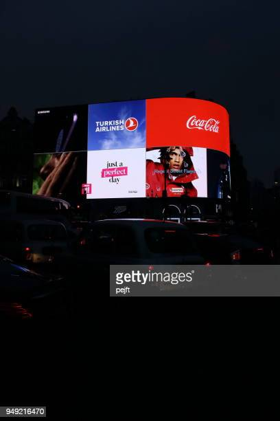 Iconic London Picadelly Circus by night