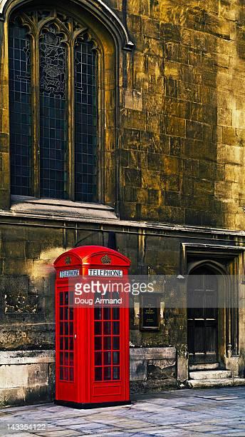 Iconic London red phone box near St Paul's