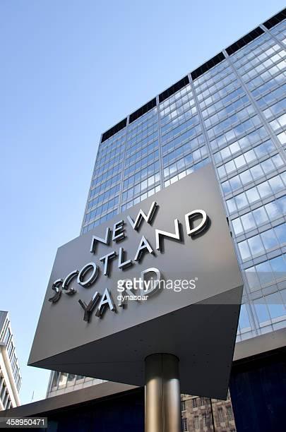 Klassischen New Scotland Yard-Schild, Greater London