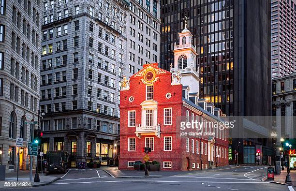 iconic old state house, boston, massachusetts, america - famous place stock pictures, royalty-free photos & images
