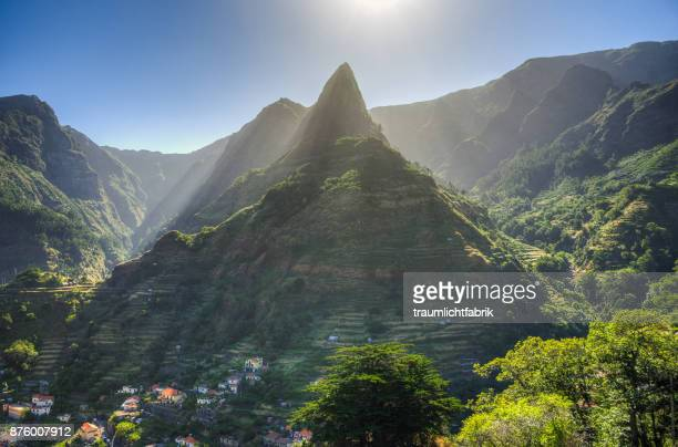 iconic peak of madeira - lareira stock pictures, royalty-free photos & images