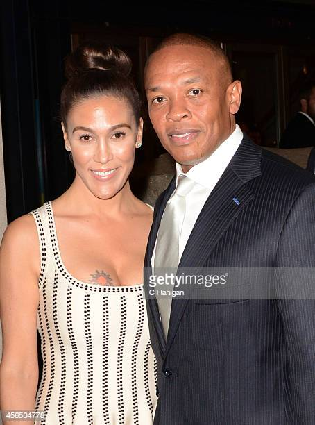 Iconic producer and rapper Dr Dre and wife Nicole Young attend the 8th Annual California Hall Of Fame Induction Ceremony at The California Museum on...