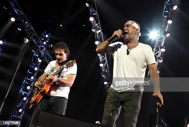 Iconic Rock band Cold Chisel perform at WEC to a packed house as part of a reunion tour Lead singer Jimmy Barnes and guitarist Ian Moss