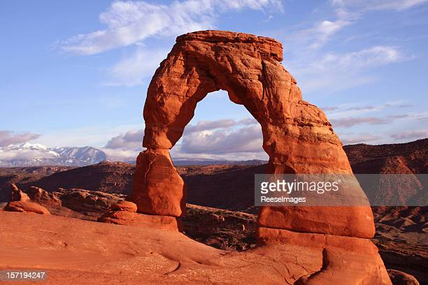 Iconic stone arch in the Utah Arches National Park