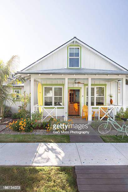 iconic summer cottage - cottage exterior stock pictures, royalty-free photos & images