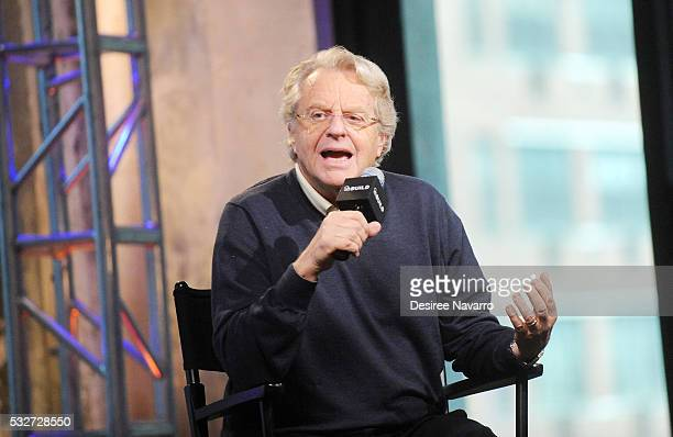 Iconic television host Jerry Springer discusses 25 years of his TV show during AOL Build Presents Jerry Springer on May 19 2016 in New York New York