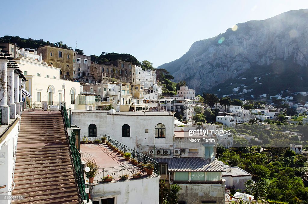 Iconic view of Capri, Italy : Stock Photo