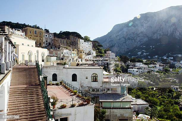 iconic view of capri, italy - capri stock pictures, royalty-free photos & images