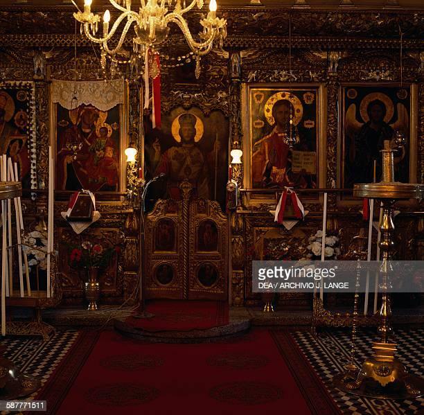 Iconostasis in the Church of Agios Nikolaos Perithori near Drama Eastern Macedonia and Thrace Greece 19th century