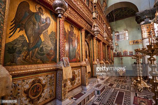 Iconostasis Inside The Great Basilica Of The Transfiguration In The Holy Monastery Of St Catherine At Mount Sinai South Sinai Egypt