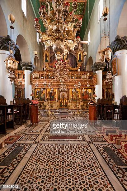 Iconostasis Inside The Great Basilica Of The Transfiguration In The Holy Monastery Of St. Catherine At Mount Sinai, South Sinai, Egypt
