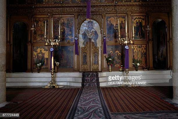 Iconostasis of the Monastery of Prophet Elijah Roustika Crete Greece