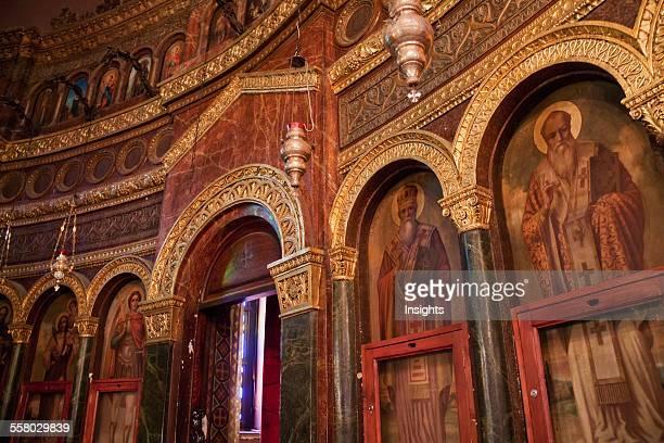 Icons In The Church Of St George Cairo Al Qahirah Egypt