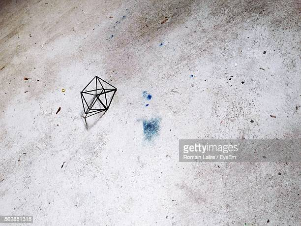 Icosahedral Object On Footpath