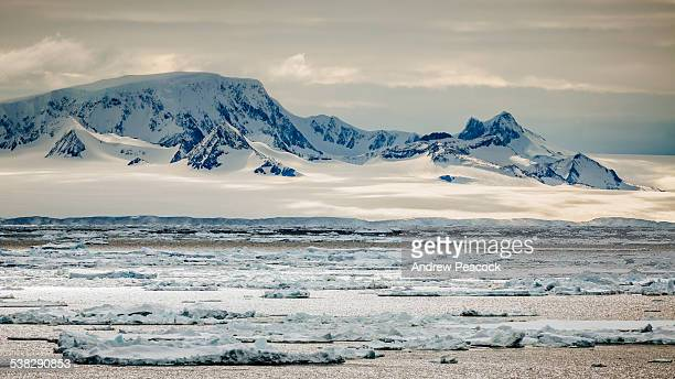 icy landscape in antarctic sound - antarctic sound stock pictures, royalty-free photos & images