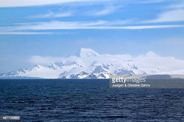 icy landscape, view point, weddell sea, antarctica - weddell sea stock photos and pictures