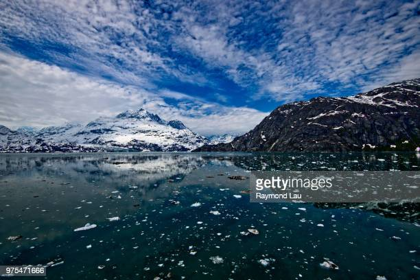 Icy landscape with glacier, Glacier Bay, Alaska, USA