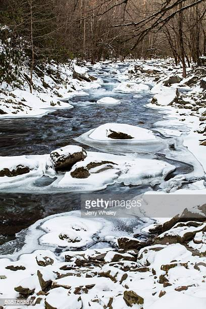 icy river - jerry whaley stock pictures, royalty-free photos & images