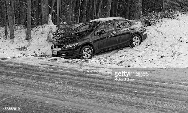 Icy road accident