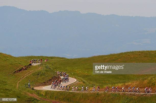 Tour of California / Stage 4 Illustration Illustratie / Peleton Peloton / Silicone Valley San Jose City Villle Stad / Sierra Road / Landscape Paysage...
