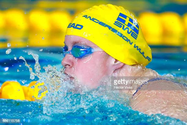 Ida Andersson of Sweden competes in women's 100 m Breaststroke SB6 during day 2 of the Para Swimming World Championship Mexico City 2017 at Francisco...