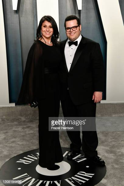 Ida Darvish and Josh Gad attend the 2020 Vanity Fair Oscar Party hosted by Radhika Jones at Wallis Annenberg Center for the Performing Arts on...