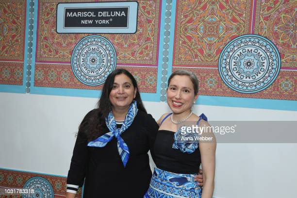 Ida De La Rosa Ellis and Marisol Deluna pose after the Marisol Deluna New York Fashion Week presentation at Tals Studio on September 11 2018 in New...