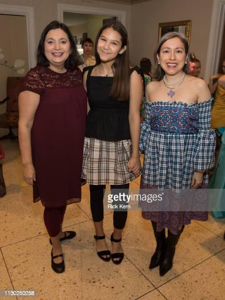Ida De La Rosa Ellis Taylor Davilla and designer Marisol Deluna and students attend the Marisol Deluna Foundation Community Fashion Show at the San...
