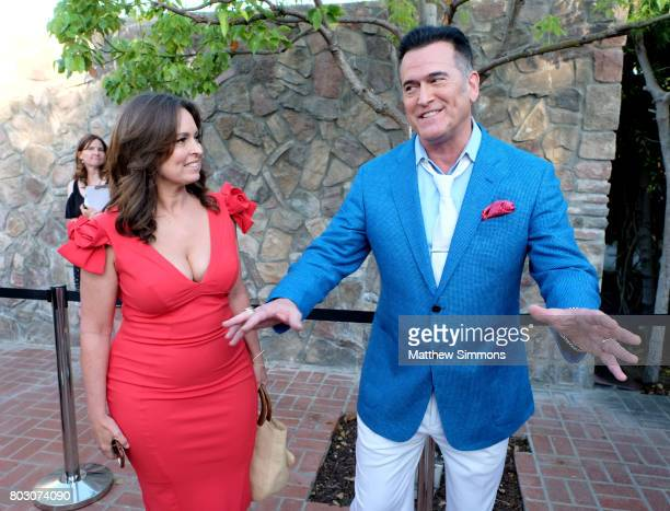 Ida Gearon and Bruce Campbell attend the 43rd Annual Saturn Awards at The Castaway on June 28 2017 in Burbank California